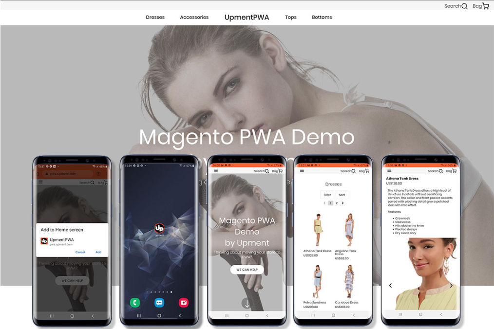 Magento PWA Demo by Upment
