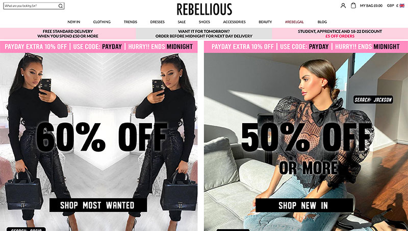 Rebelious Fashion Klarna